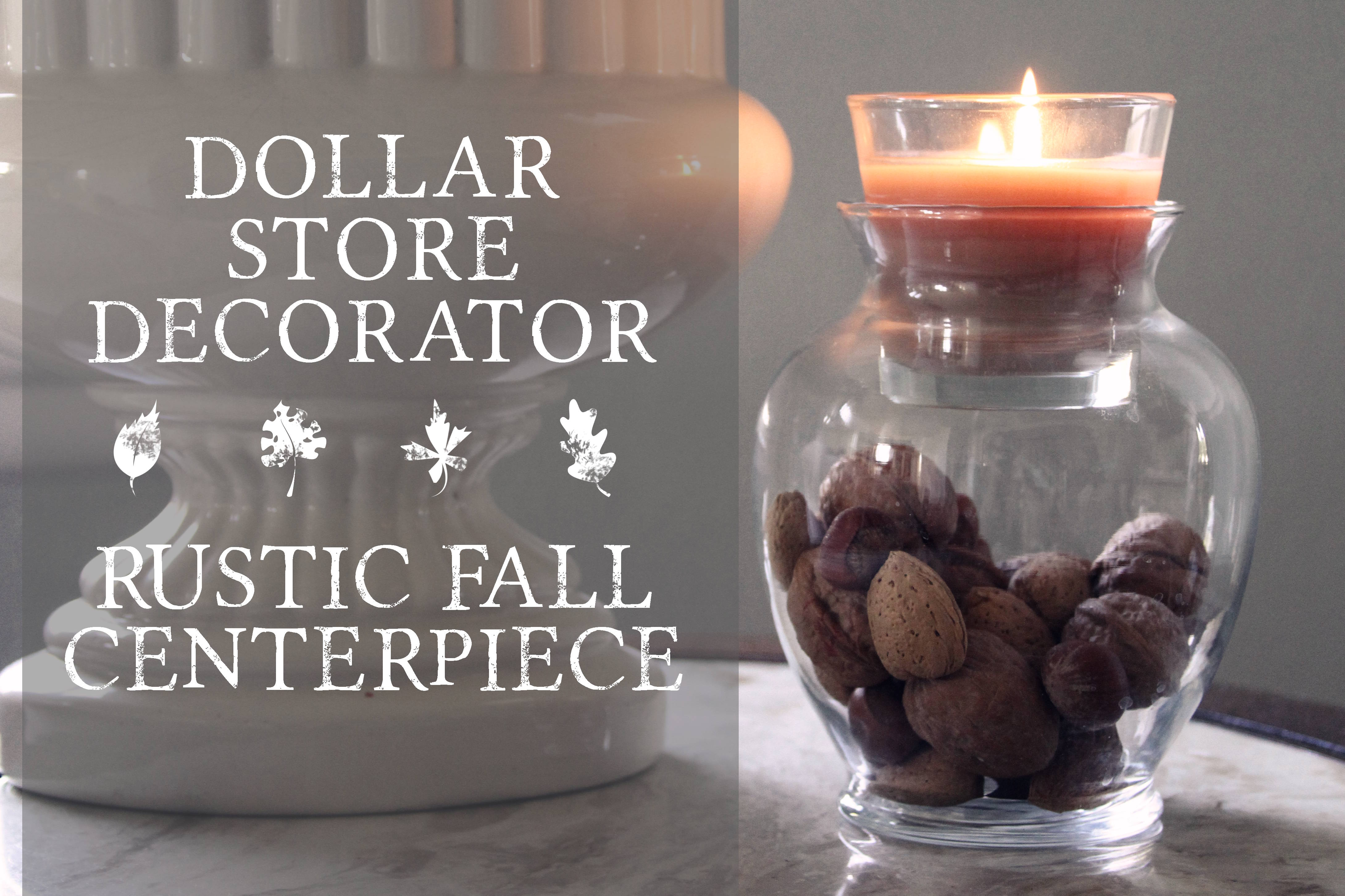 Dollar store hack fall centerpiece amy allender dot com for Cheap thanksgiving table decorations